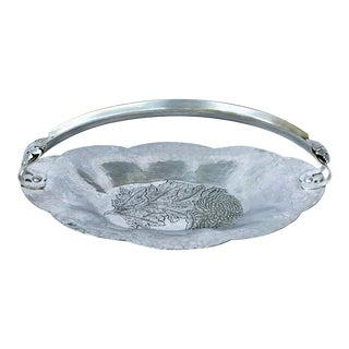 Vintage Aluminum Floral Basket For Sale