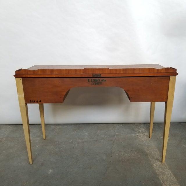 Antique Flint & Horner French Deco Writing Desk/Vanity For Sale - Image 4 of 13