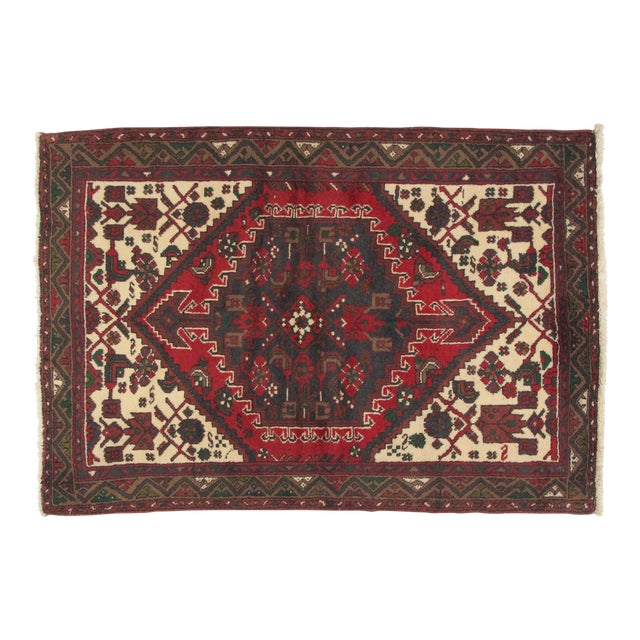 "Leon Banilivi Persian Hamadan Rug - 3'7"" x 5'2"" For Sale"