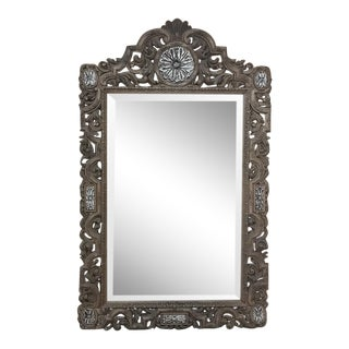 Antique Renaissance Carved Wood Mirror For Sale