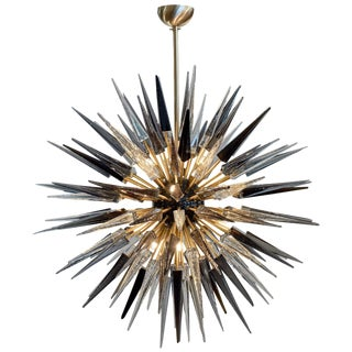 Murano Glass Sputnik Prism Chandelier For Sale