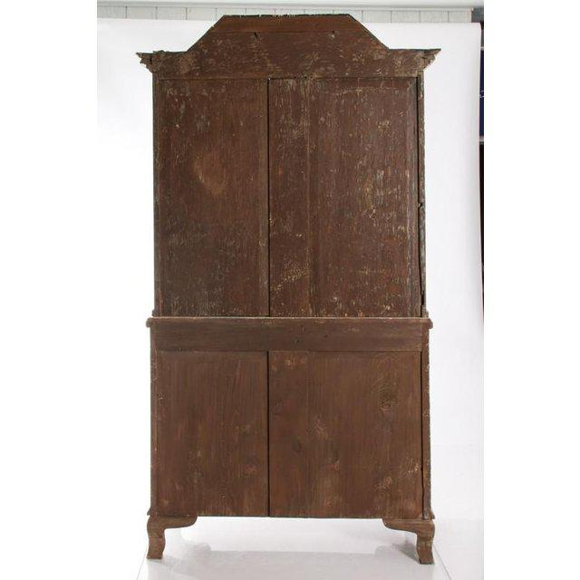Wood Antique White Gustavian Style Vitrine With Glass Panel Doors For Sale - Image 7 of 11
