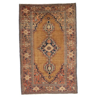 Antique Persian Rug Hamedan Design With Large Central Medallions Pattern For Sale