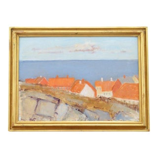 Landscape With Houses by Mogens Hertz For Sale