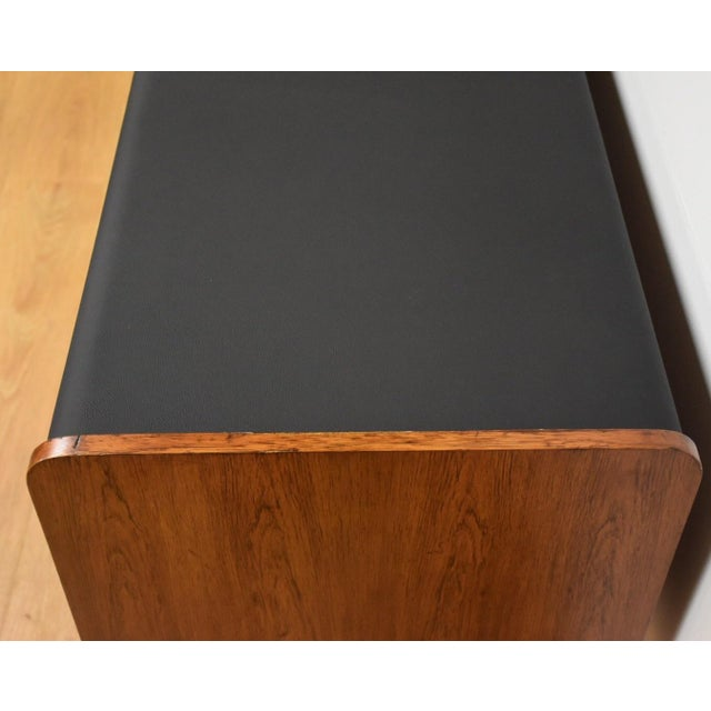 Ste-Marie Rosewood & Chrome Credenza For Sale - Image 10 of 11