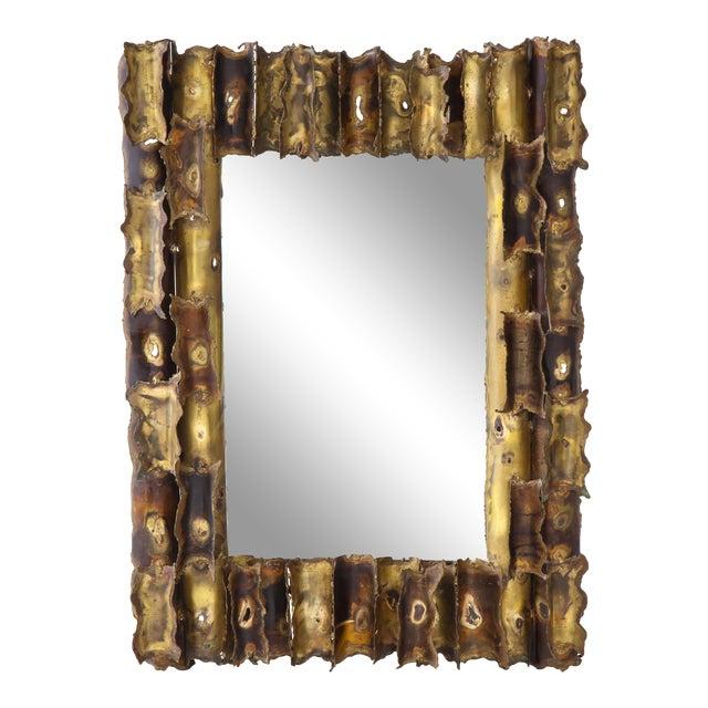Tom Greene Custom Made Brutalist Mirror For Sale