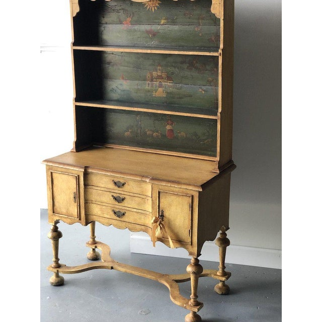 19th C. Continental Motif Painted Cupboard For Sale In West Palm - Image 6 of 7