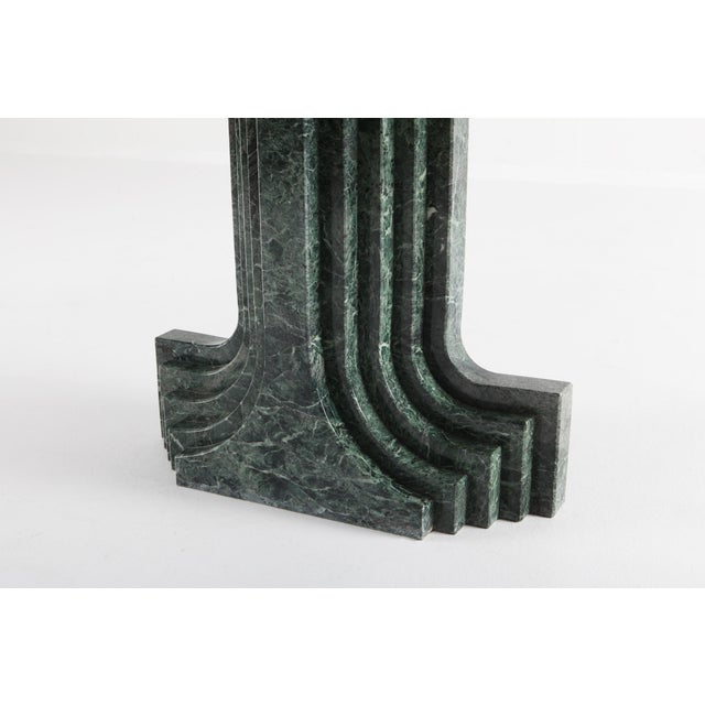 Carlo Scarpa Dining Table 'Samo' in a Rare Green Marble For Sale - Image 9 of 11