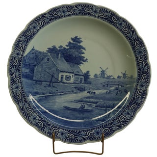 Plate, Ceramique Maastricht Masstricht Blue Delft For Sale
