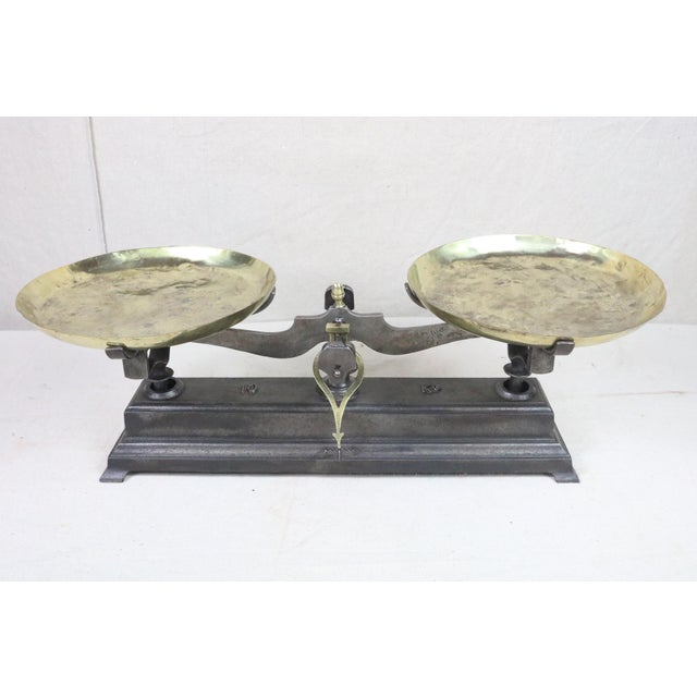 19th Century French Cast Iron Balance Scale For Sale - Image 10 of 10