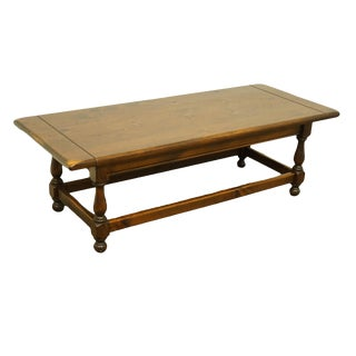 20th Century Early American Ethan Allen Antiqued Pine Old Tavern Cocktail / Coffee Table For Sale