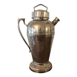 Vintage Silver Plate Cocktail Shaker For Sale
