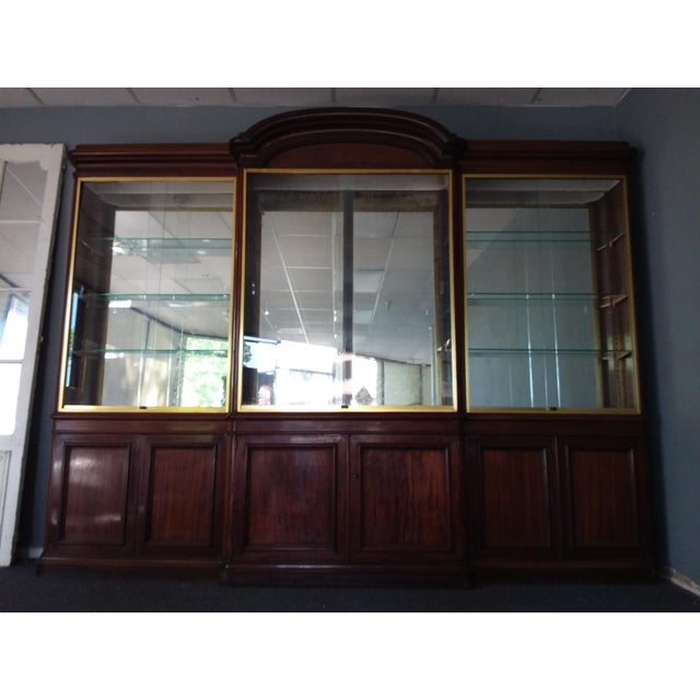 Late 19th Century Antique Rosewood Shop Display Case With Miiror and Glass For Sale - Image 5 of 11