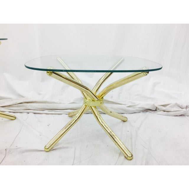 Gold Knot Side Tables - A Pair - Image 7 of 8