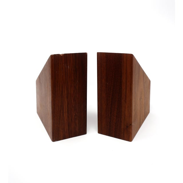 1960s Mid-Century Modern Walnut Bookends For Sale - Image 5 of 10
