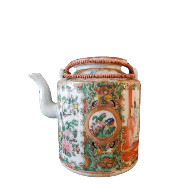 Rose Medallion Teapot - Famille Rose - Rose Canton - c. 1900 - Image 8 of 8