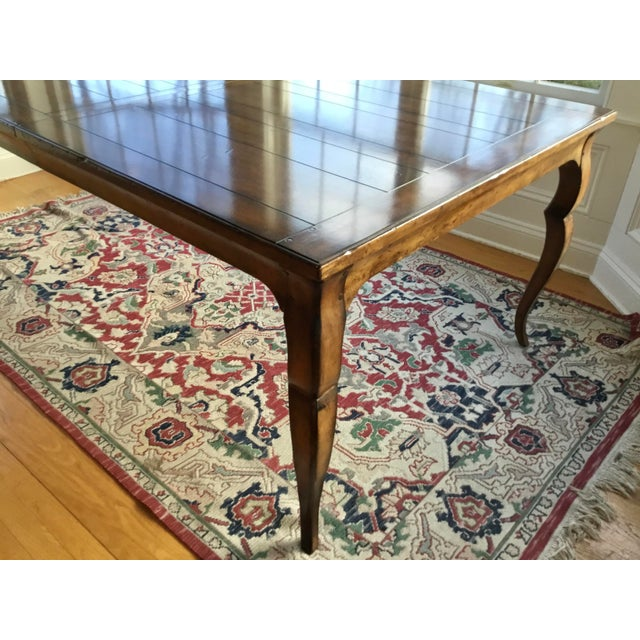 Woodbridge Furniture French Country Distressed Dining Table For Sale - Image 4 of 10