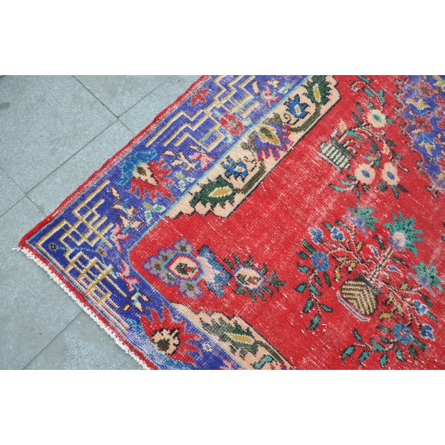 Turkish Oushak Floor Rug - 6′2″ × 9′11″ - Image 5 of 6