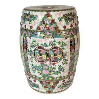 20th Century Chinese Hand Painted Porcelain Garden Stool For Sale