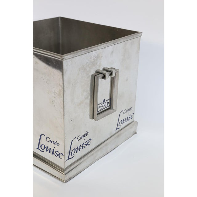Made by the House of Pommery, this large champagne cooler is sure to delight. Square in shape, large in scale and having...
