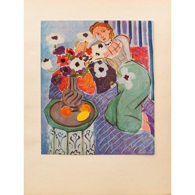 "Blue 1940s Henri Matisse, ""Blue Odalisque"" Original Period Swiss Lithograph For Sale - Image 8 of 8"
