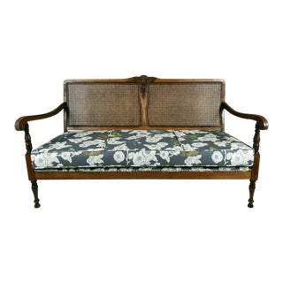 French Style Caned Back Sofa Settee For Sale