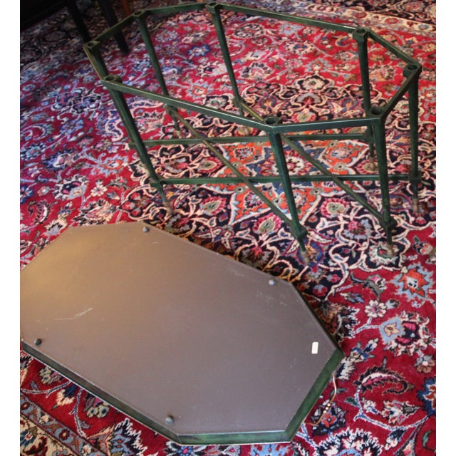 Italian Tole & Green Chinoiserie Coffee Table - Image 6 of 6