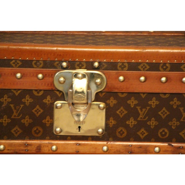 Animal Skin 1920s Louis Vuitton Cabin Steamer Trunk For Sale - Image 7 of 13