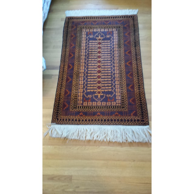 "Persian Shiraz Hand-Knotted Oriental Wool Rug - 4'10"" X 2'11"" - Image 10 of 11"