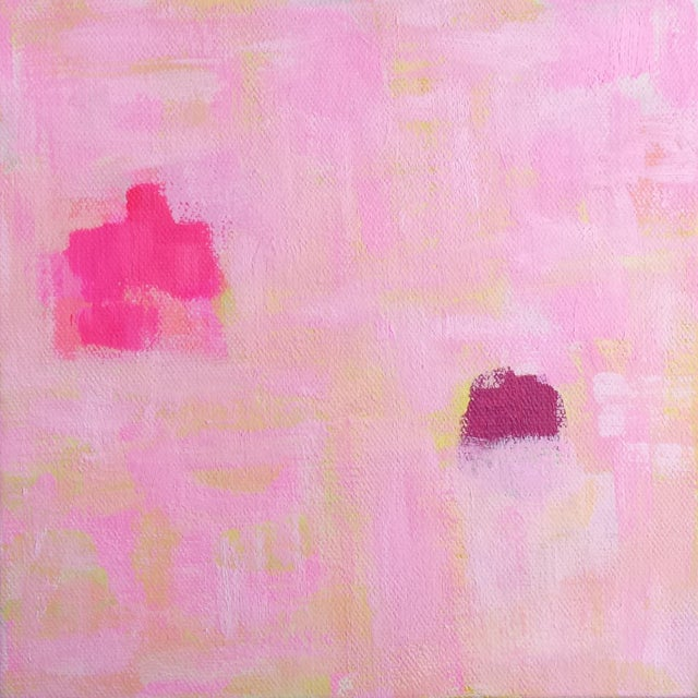 """Susie Kate """"Spring Pink"""" Abstract Painting - Image 1 of 3"""