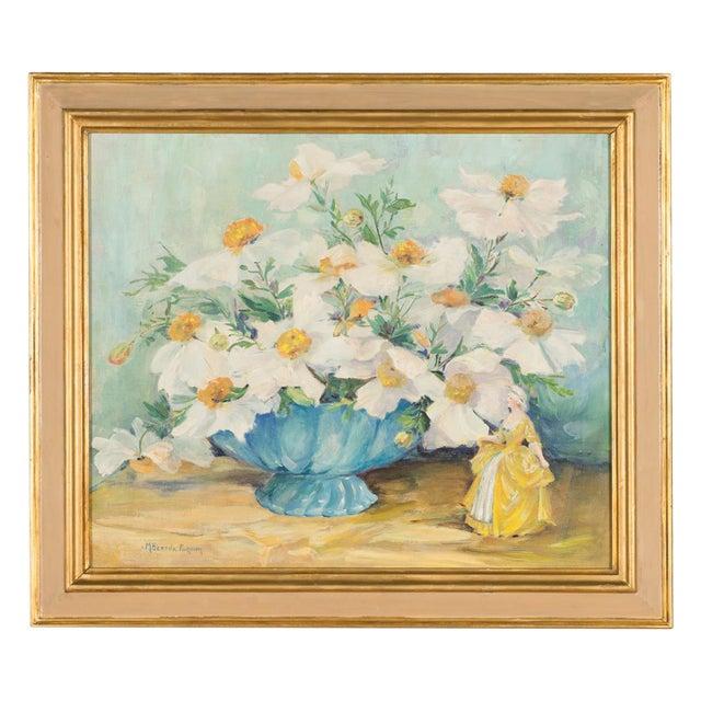 "Mary Purdum ""Big White Flowers"" Painting - Image 1 of 10"