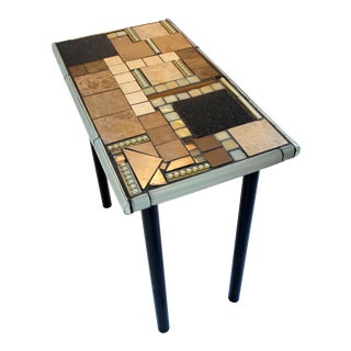 """""""Jellyfish Khalifa"""" Mosaic and Metal Console Table For Sale"""