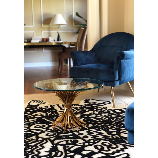1960s 1960s Vintage Maison Baguès Sheaf of Wheat Coffee Table For Sale - Image 5 of 6