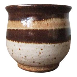 1970s Vintage Studio Pottery Ceramic Planter For Sale