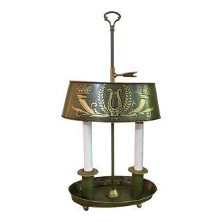 Antique French Empire Bouillotte Tole Lamp For Sale