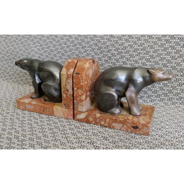 1930s Art Deco Polar Bear Bookends - a Pair For Sale In Palm Springs - Image 6 of 10