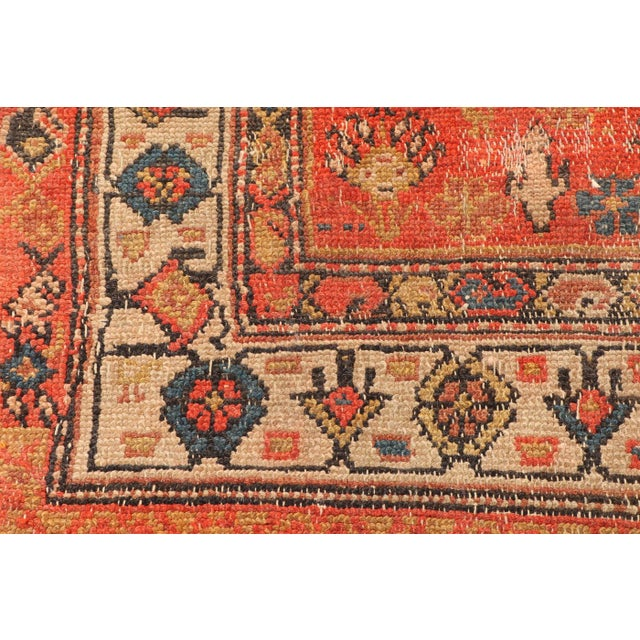 Islamic Early 20th Century Antique Hand Knotted Persian Rug-4'4 X 7'7 For Sale - Image 3 of 8
