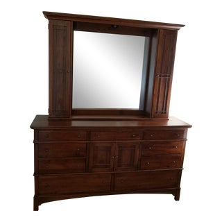 Lexington / Bob Timberlake Arts & Crafts Series Dresser & Mirror Cabinet For Sale