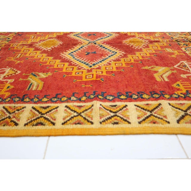 """Taznakht Moroccan Rug, 5'3"""" X 10'5"""" Feet For Sale - Image 4 of 6"""