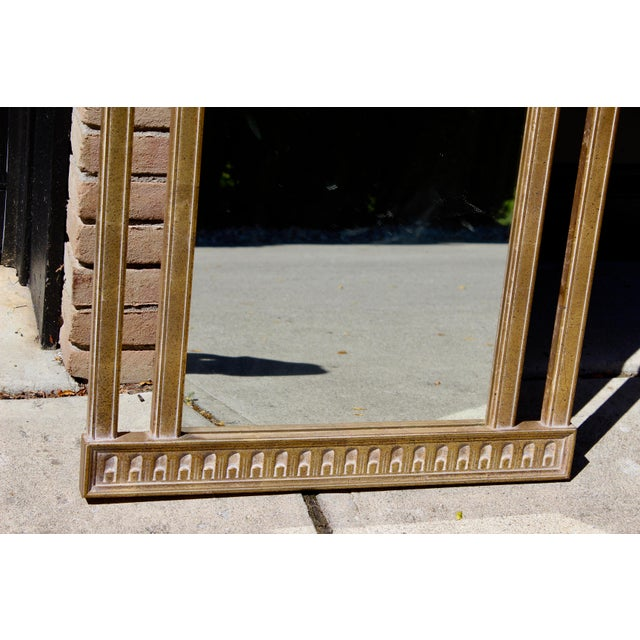 "Vintage 51"" Antique Gold Gilt French Neoclassical Obelisk Mirror For Sale - Image 4 of 5"