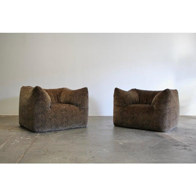 """Textile 1970s Mario Bellini """"Le Bambole"""" Chairs & Ottoman For Sale - Image 7 of 13"""