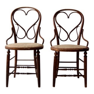 Antique Bentwood Chairs - a Pair