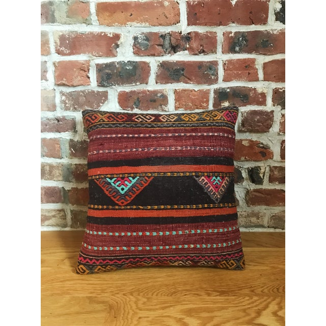 Vintage Turkish Kilim Pillows - Set of 3 For Sale In New York - Image 6 of 9