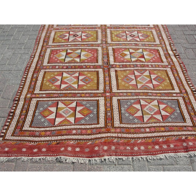 "Vintage Turkish Kilim Rug - 65.5′″ × 97"" For Sale - Image 11 of 13"