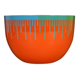 Richard Anuszkiewicz Op Art Enamel Bowl Made for the Hirshhorn Museum and Sculpture Garden, Smithsonian Institute, Washington d.c. 1976 For Sale