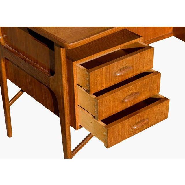 Danish Teak Desk in the Style of Kai Kristiansen For Sale - Image 5 of 8