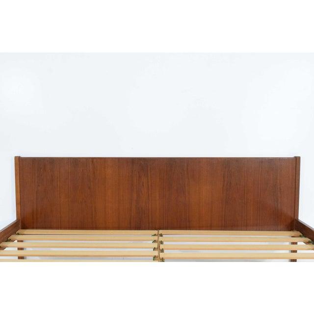 "Danish Modern Danish Modern Teak Oversized Queen Bed Frame, 69.5"" Wide For Sale - Image 3 of 10"