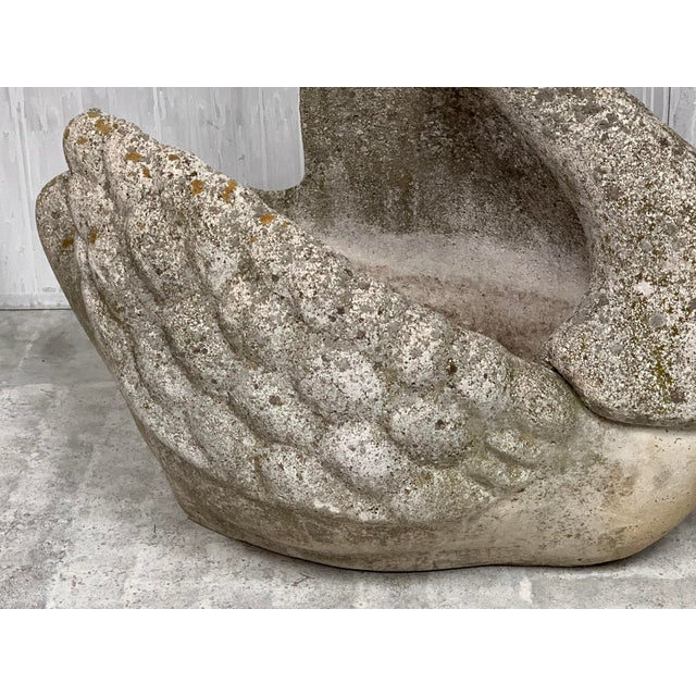 English Traditional Vintage Stone Swan Planter For Sale - Image 3 of 5
