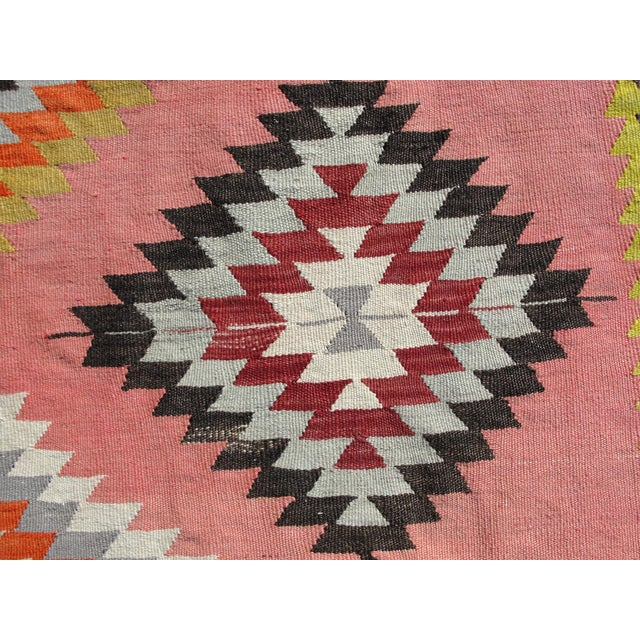Vintage Turkish Kilim Rug - 6′5″ × 8′9″ For Sale - Image 5 of 11