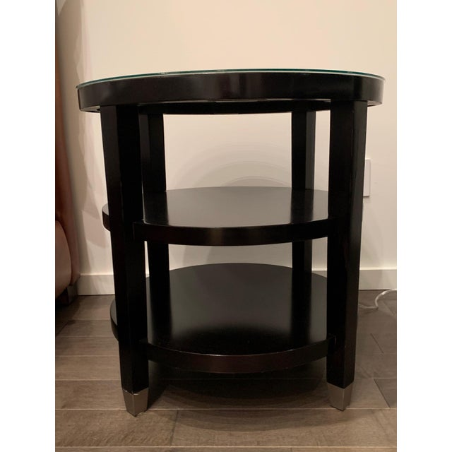 Wood Side Tables From Gumps - a Pair For Sale - Image 7 of 9